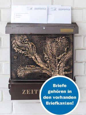 Briefe gehören in den vorhandenen Briefkasten